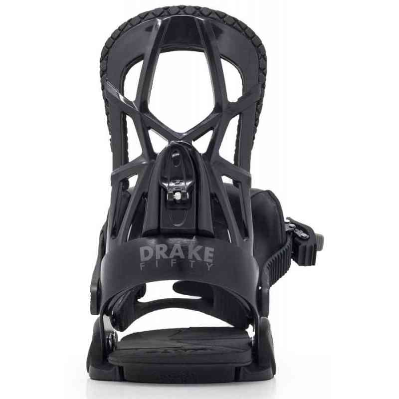 Drake Fifty Mens Snowboard Binding: Drake Fifty Black Snowboard Bindings