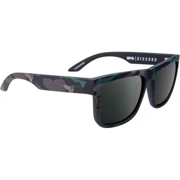 Okulary przeciwsłoneczne Spy Discord Stealth Camo HD+ Gray Green w/Silver Spectra Mirror