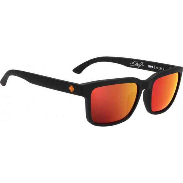 Okulary Przeciwsłoneczne Spy Helm 2 Dale Jr Matte Black -  HD Plus Gray Green w/Orange Spectra
