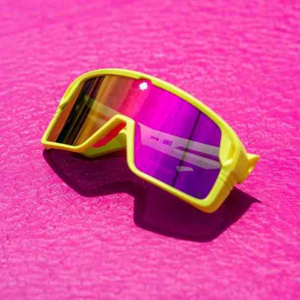 Okulary przeciwsłoneczne Spy Monolith (mat neon yellow/gray green pink)
