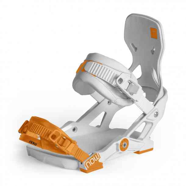 Wiązania Snowboardowe Now Ipo White/Orange