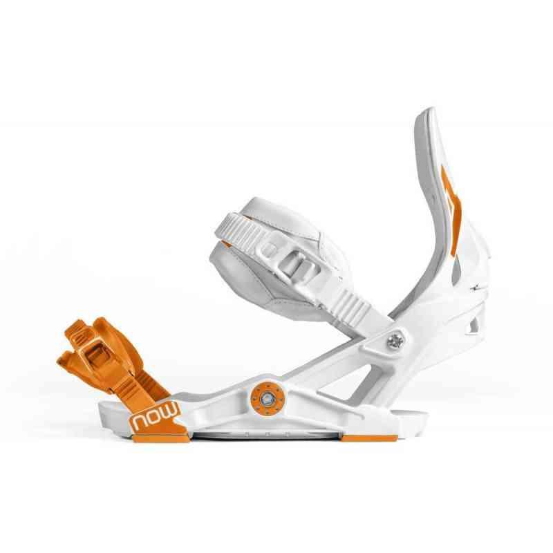 Snowboard BIndings Now Ipo White/Orange