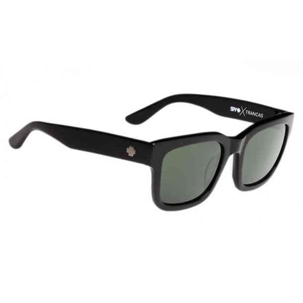 Okulary SPY TRANCAS BLACK - HAPPY GRAY GREEN POLARIZED