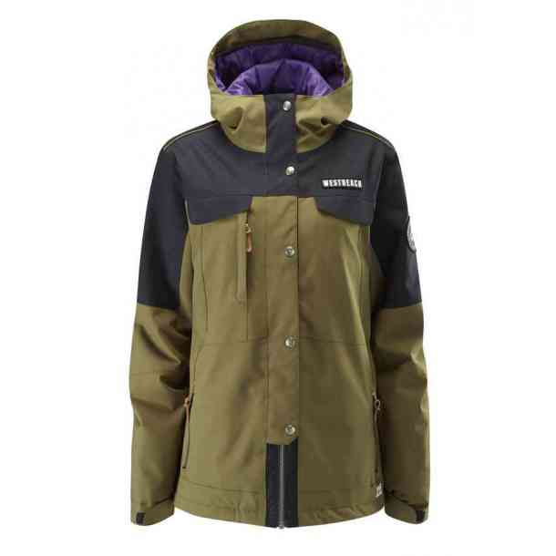 Womens Westbeach Cascade Olive Snowboard Jacket