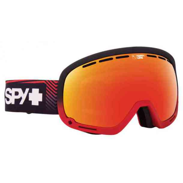 SPY MARSHALL GOGGLES STACKED RED - HAPPY SILVER MIRROR + HAPPY LUCID GREEN (bonus lens)