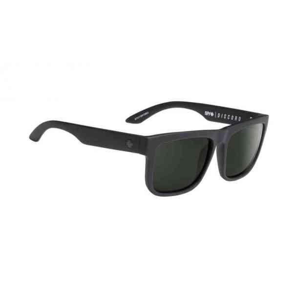 Okulary Przeciwsłoneczne Spy Discord Soft Matte Black - Happy Gray Green Polarized