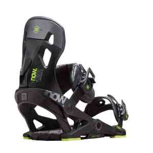 Now Pilot Black snowboard bindings