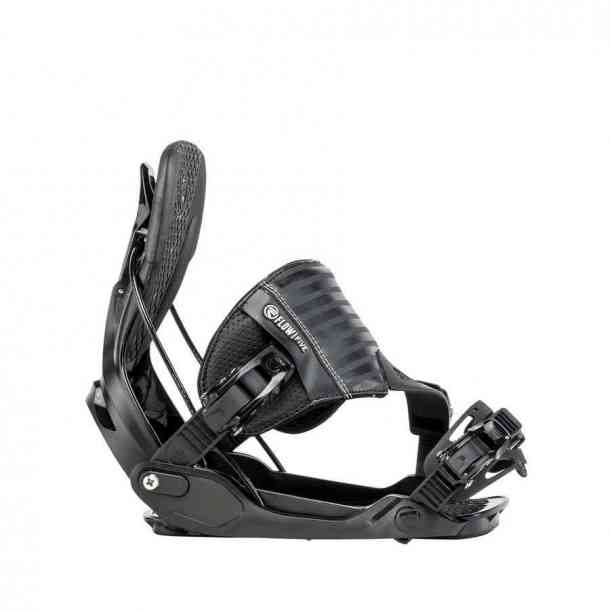 Flow Five Hybrid Black Snowboard Bindings