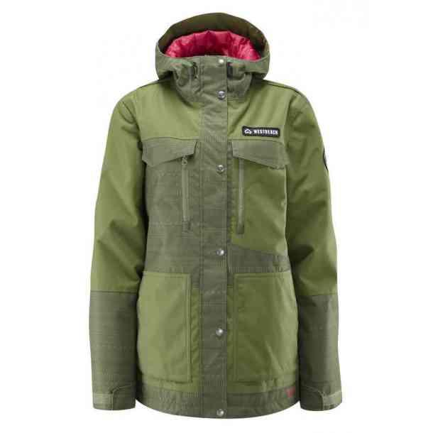 Damska Kurtka Snowboardowe Westbeach Waltz Combat Green