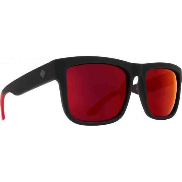 Okulary przeciwsłoneczne Spy Discord Soft Matte Black/Red Fade - Happy Gray Green w/Red Spectra