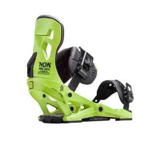 Now Pilot Green snowboard bindings