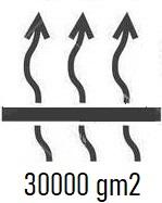 Oddychalność, to zdolność materiału do odprowadzania pary wydzielanej przez nasz organizm. Parametr jest podawany w gramach/m2/24 h. Liczba 10000 oznacza, że metr kwadratowy materiału w ciągu doby odprowadzi 10000 g pary. Nie trudno się domyślić, że im wyższy jest ten parametr, tym lepsza jakość materiału.