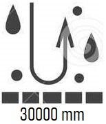 Wodoodporność określa nam jaki nacisk słupa cieczy jest w stanie wytrzymać dany materiał. Im większa liczba, tym lepsza ochrona przed wodą.