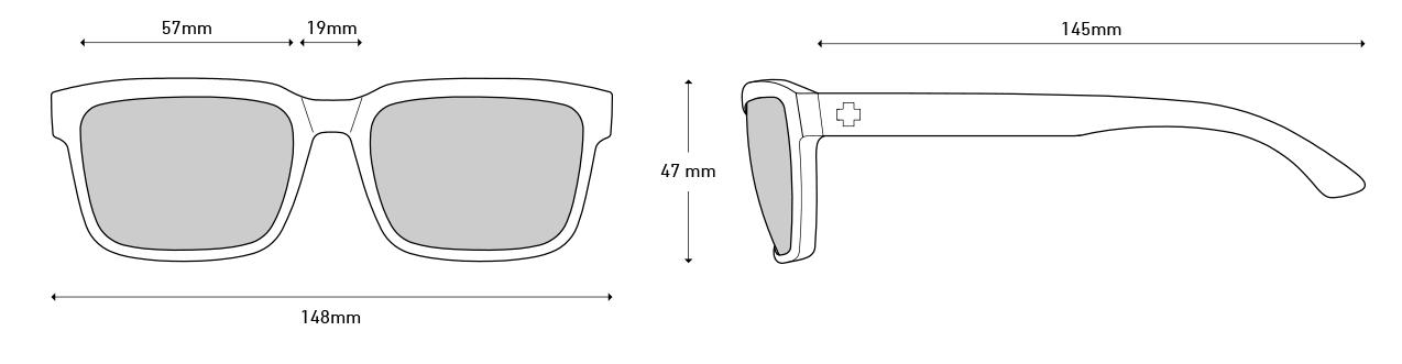 Okulary przeciwsłoneczne Spy Helm 2 wymiary